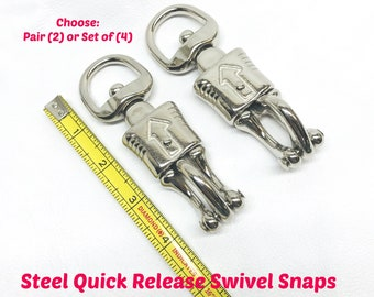 BDSM Safety Quick Release Panic Snaps with SWIVEL End