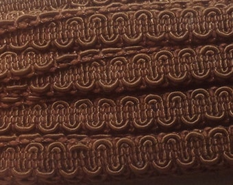 Vintage Scroll Gimp Brown 3 yards - Conso Vintage Scroll Gimp Yardage - C03