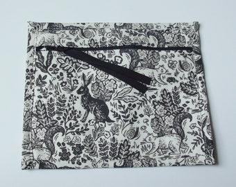Dollbirdies Small Project Bag, Notions Bag, Cross Stitch, Needle Arts Bag, Hand Work Bag