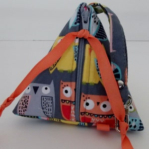 Triangle Paci Pod Knitting Notions Inhaller Pouch Coin Purse Dollbirdies Original Pacifier Pouch Pyramid Pouch