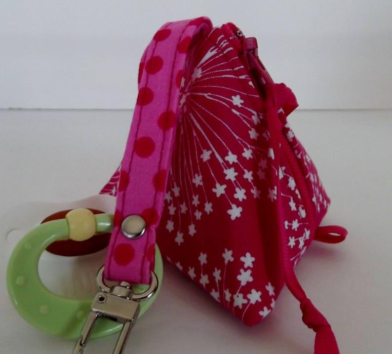 Pacifier Case Zipper Pouch Triangle Pouch Paci Pod Hearing Aid Pouch Coin Pouch Dollbirdies Original Mini Pacifier Pouch