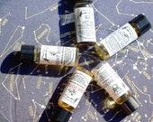 Set of 5 Natural Perfume Minis ~ decadent scent art, sample set, organic, 100% natural, 1ml each