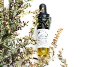 Mugwort Sweet Dreams Oil, Lucid Dreams Oil, fragrant anointing oil infused with Artemisia, Rose, Lavender, for intuition, dream magic - 4 ml