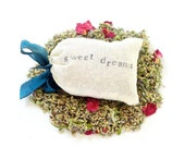 Sweet Dreams, Fragrant Dream Pillow with Wild Roses, Mugwort, Lavender