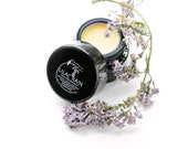 Lilac Rain - solid botanical perfume - 5 grams in violet glass jar