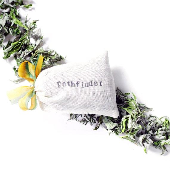 Pathfinder Mugwort Dream Pillow - fragrant wild Artemisia + organic  Lavender - intuition, lucid dreaming
