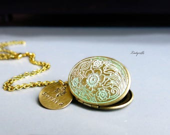 Vintage Gold Locket with Patina - My favorite picture