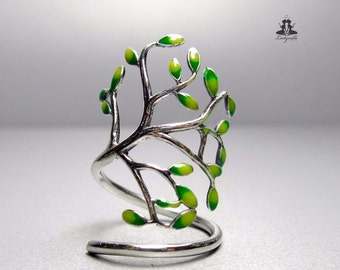 Sterling Silver ring - tree, one of a kind