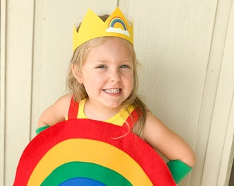 Childs RAINBOW COSTUME / Rainbow party / Halloween ready / Kids halloween costumes / Rainbow Brite / Rainbow baby costume / Superkidcapes