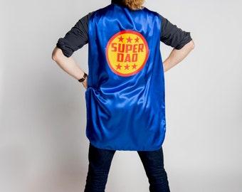 Ready to ship   SUPER DAD Superhero Cape   Ships next day   Adult Superhero Cape   Super Mom Cape   Custom Adult Cape   Mom Cape   Dad Cape