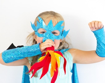 Kids DRAGON Costume Cape with scales and spikes, add a dragon mask, dragon accessories, kids Halloween dragon costume, lots of color options