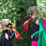 BLACK DRAGON Costume Cape with scales and spikes + optional Dragon Mask and Full Costume - Dress Up Costume - Kids Halloween Dragon Costume