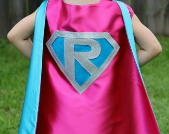 457db6d8a PERSONALIZED Girl Birthday Gift - Sparkle Girl SUPERHERO CAPE - Customize  with your child's initial