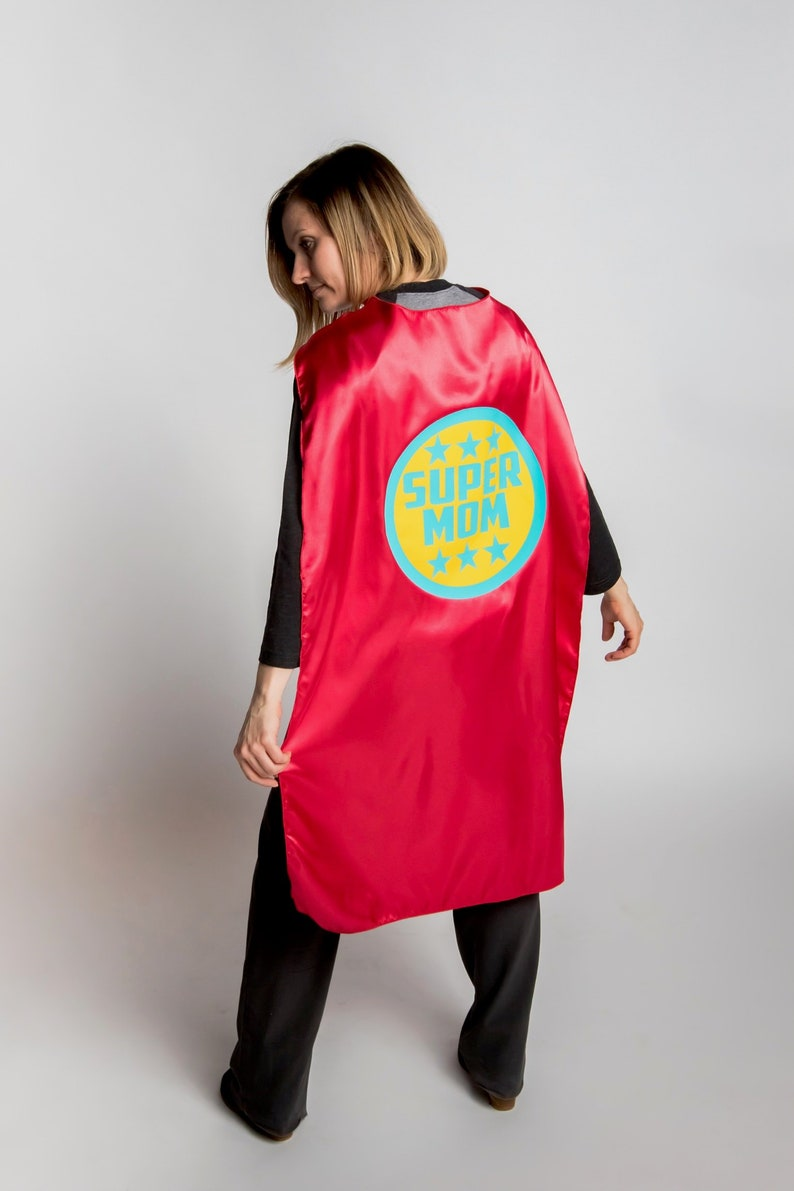 SUPER MOM CAPE  In stock and ships next day  Adult Superhero image 0