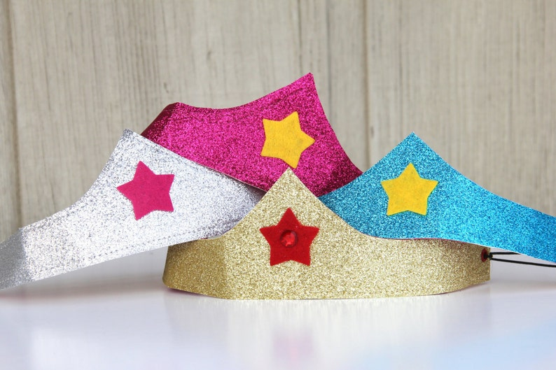 Kids Halloween Accessory  Girls Sparkle Crown  Comfortable image 0