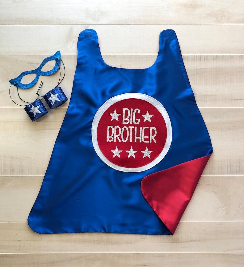 New BIG BROTHER CAPE Set  Kids superhero cape  Big Brother image 0