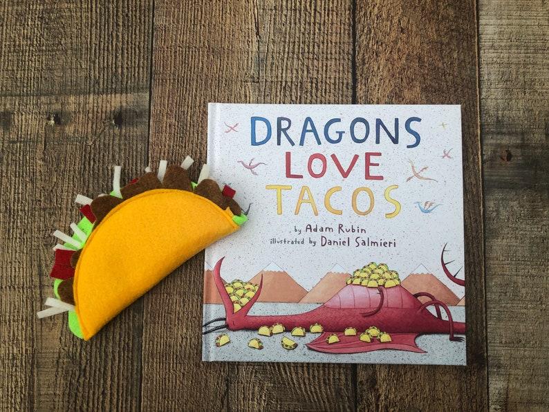 FELT TACO  Dragons loves tacos  Dragons love tacos party  image 0