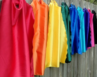 25 Childrens Super Hero Capes Party Favor -You choose the colors -boy or girl birthday party favors