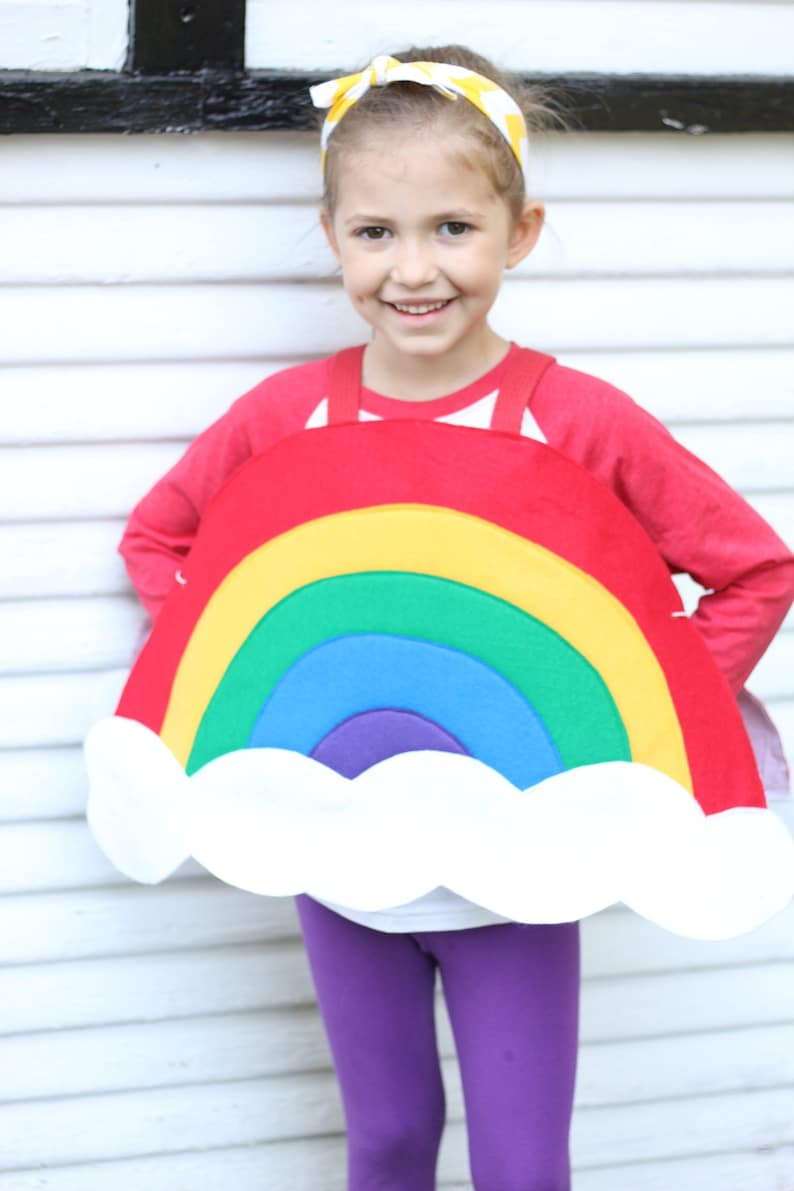 Childs RAINBOW COSTUME  Halloween ready  Kids halloween image 0