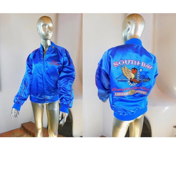 Sweet Vintage Satin Jacket - Vintage 1990 Embroide