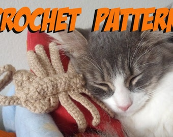 Alien Facehugger Cat Toy Crochet Pattern