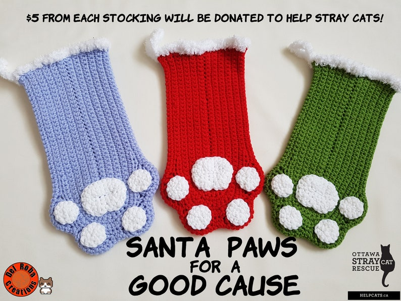 Santa Paws Crocheted Holiday Stocking image 0