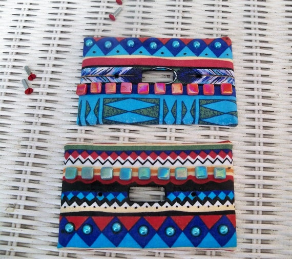 Switch Plates 2 Switch Plate Covers Light Switch Tribal Etsy