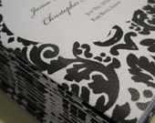 items similar to black and white damask ceremony program covers
