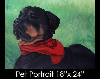 """18""""x24"""" Pet Portrait - Oil on Canvas by Maria Burd"""