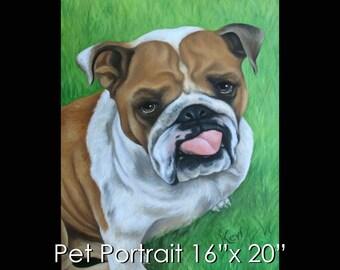 """16""""x20"""" Pet Portrait - Oil on Canvas by Maria Burd"""