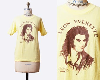 Vintage 70s LEON EVERETTE TShirt / 1970s Country Music Tour Concert Tee T Shirt Shirt s m