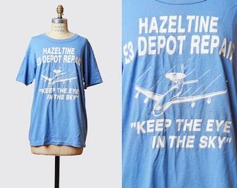 a01f0927298 Vintage 1980s Hazeltine E3 Depot Repair Airplane TShirt   1980s Hipster T  Shirt Plane Graphic Tee Kawaii Retro Tee Shirt xs s
