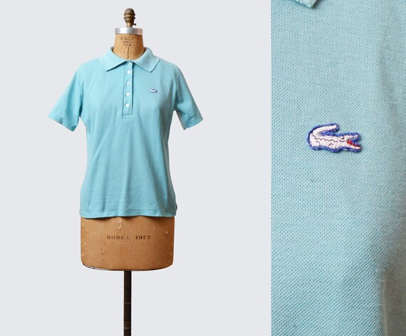 ffc663d26fc372 Vintage Lacoste Shirt Polo Shirt 80s Top Izod CROCODILE Blue
