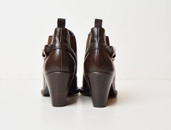 Vintage 90s Brown Chelsea Ankle Boots / Prada 199… - image 4