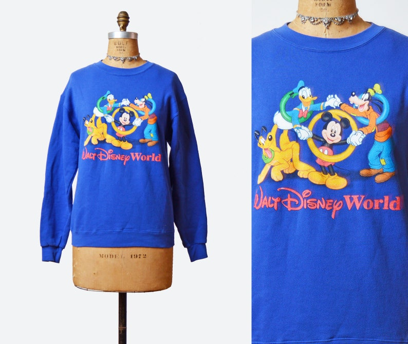 4dca3060f8 Vintage 90s Mickey Mouse and Friends Sweatshirt Disney Sweater | Etsy