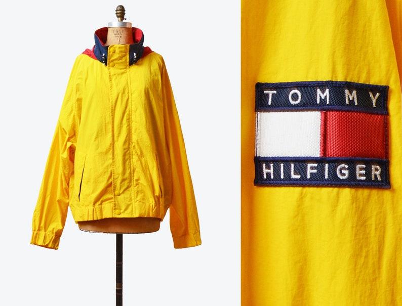 649c4e4a Vintage 90s Tommy Hilfiger Windbreaker Jacket 90s Streetwear | Etsy