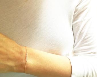 Pearl Bracelet, Gold Pearl Bracelet,  June Bracelet, Minimalist Bracelet, Dainty Bracelet, June Birthstone, Bar Bracelet,  Bridesmaid Gift