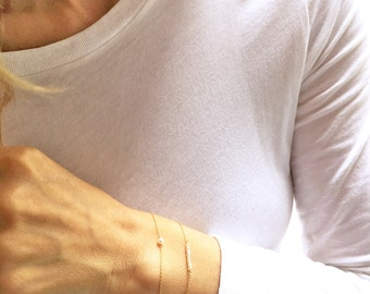 Pearl Bracelet, Gold Pearl Bracelet,  June Bracelet, Layered Bracelet Set, Dainty Bracelet, June Birthstone, Beaded  Bridesmaid Gift