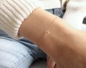 Gold Crystal Bracelet, Crystal Bracelet, April Birthstone Bracelet, Gold Chain Bracelet, Dainty Chain Bracelet, Genuine Crystal Quartz