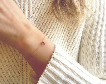 Amethyst Bracelet, Gold Amethyst Bracelet, February Birthstone, Dainty Bracelet, Simple Bracelet, Delicate Bracelet, Birthstone Bracelet