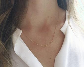 Citrine Necklace, Gold Citrine Necklace, November Birthstone, Genuine Citrine, Dainty Necklace, 14k Gold Filled