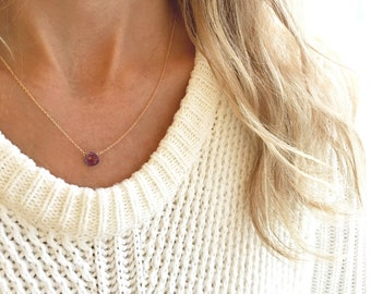 Amethyst Necklace, Genuine Amethyst Necklace, February Birthstone Necklace, Dainty Necklace, Bridesmaid Gifts, Graduation Gift, Gift for Her