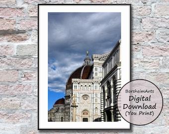 Florence Duomo Italy photo wall art printable image Borsheim Arts