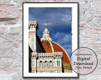 Florence Duomo photography prints Italy digital download art printable Italian wall art decor