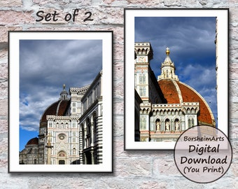 Florence Italy Duomo Set of Two 2 Photos home decor printable wall art