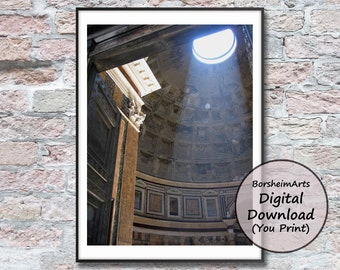 Pantheon Rome Italy photograph download printable artwork