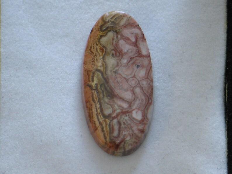 Pretty Peach Color Petrified Wood Designer Cabochon 23mm x 35mm x 6mm  41 ctw