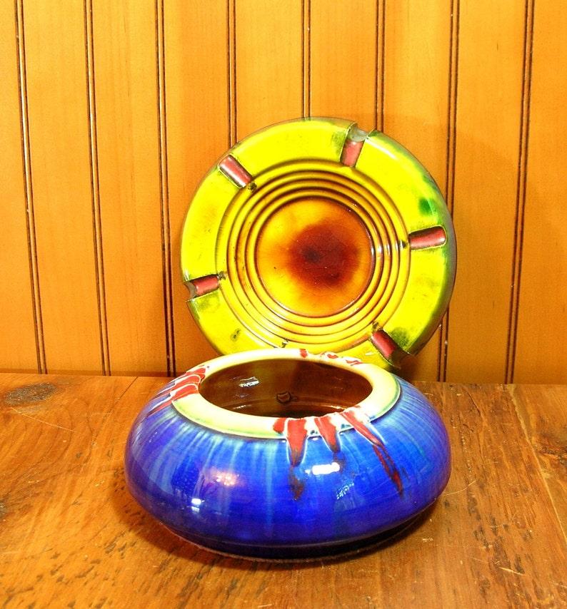 Vintage Ashtrays Art Pottery Ashtrays Smoking Collectible