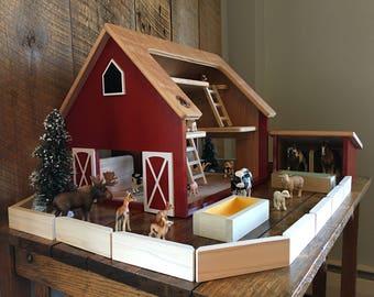 toy barn etsybailey ships 1 2 days kids hardwood toy barn