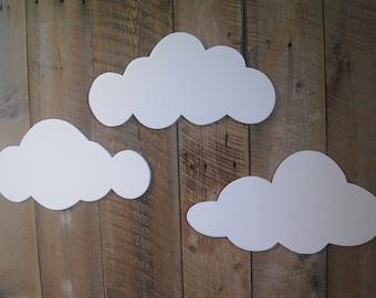 Wall Clouds - set of 3 - Wall Art
